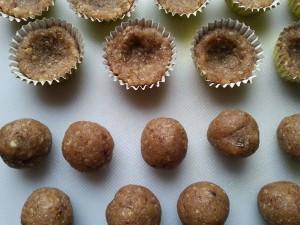 Ořechové košíčky - raw