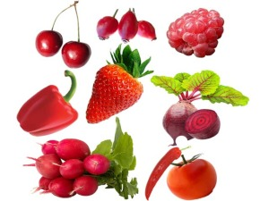 cervene ovoce a zelenina