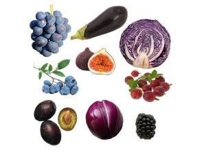 fialove ovoce a zelenina