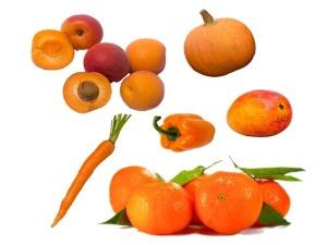 oranzove ovoce a zelenina