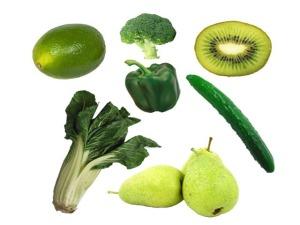 zelene ovoce a zelenina