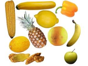 zlute ovoce a zelenina